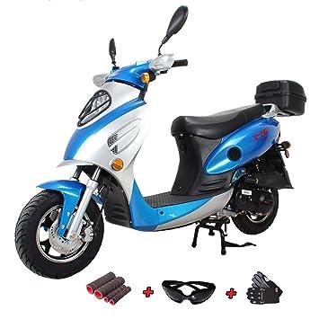 Amazon.com: X-Pro - Scooter a gas con mopa de 50 cc y ...