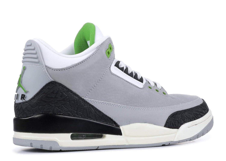 sale retailer ed897 f7b16 Jordan 136064-006: Mens Air 3 Retro Tinker Light Grey/Chlorophyll/Black  Sneakers (11 D(M) US Men)