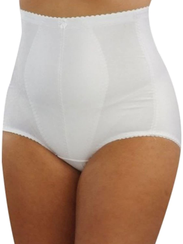 Ladies  Briefs Medium Control Shapewear Knickers Black White Tummy Tuck Bum Lift
