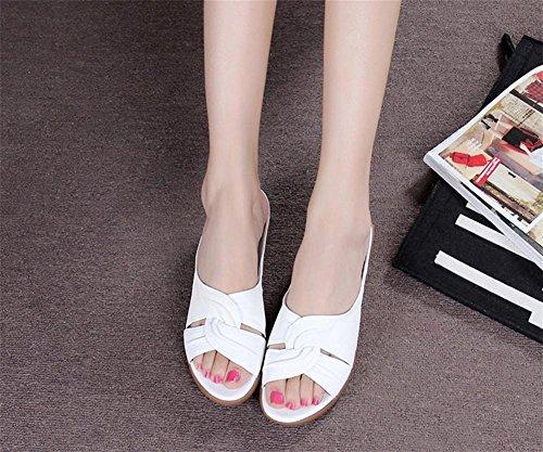 pengweiSe?ora sandalias de verano con fondo suave media zapatillas de edad 3