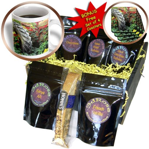 Danita Delimont - Flowers - Spring flowers adorn an old tractor - US48 RDU0072 - Richard Duval - Coffee Gift Baskets - Coffee Gift Basket (cgb_96604_1)