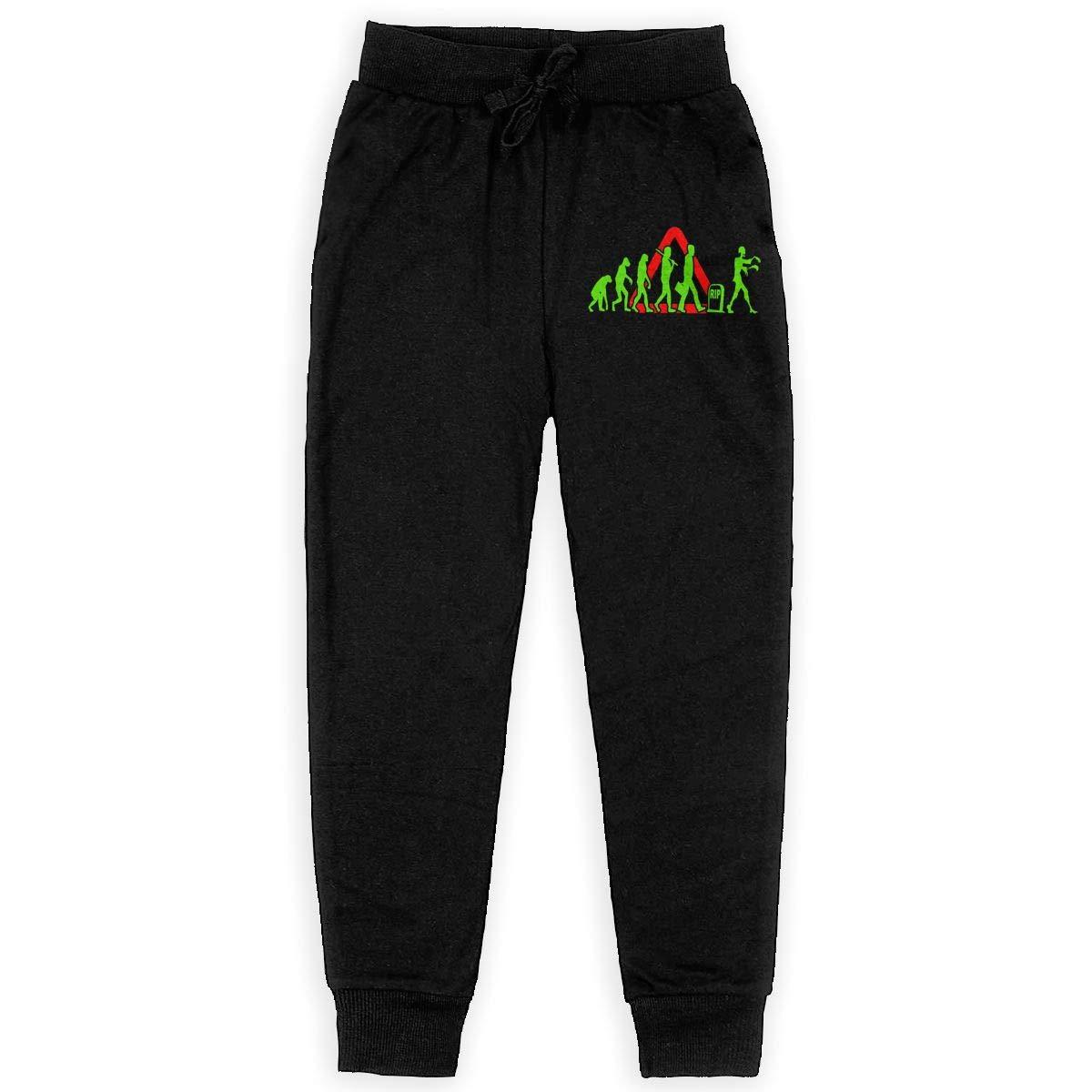 Bing4Bing Funny Zombie Evolution Boys Cotton Sweatpants Joggers Pants Active Pants