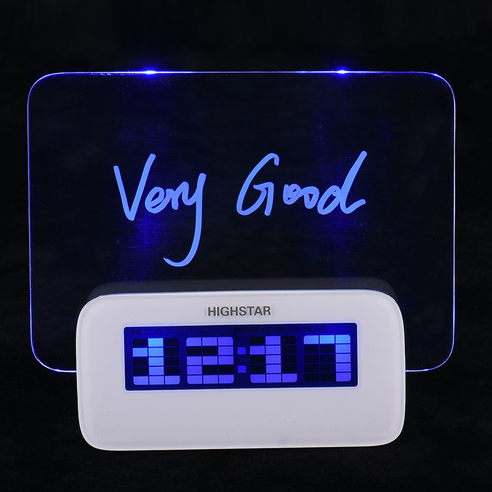 Alarm Clock Message Board with Snooze Function LCD Display Backlight