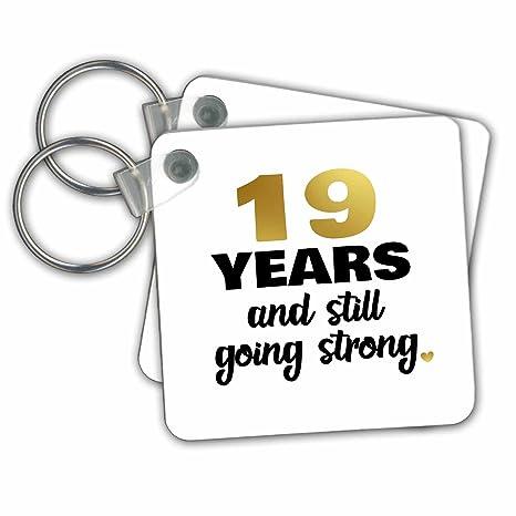 Amazon.com: 3dRose Janna Salak diseños aniversario – 19 años ...