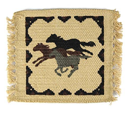 Rodeo Cowboy Horses Coaster Set