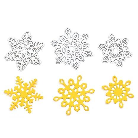 Patrones decorativos con forma de copo de nieve, molde, herramienta de Recorte de Navidad