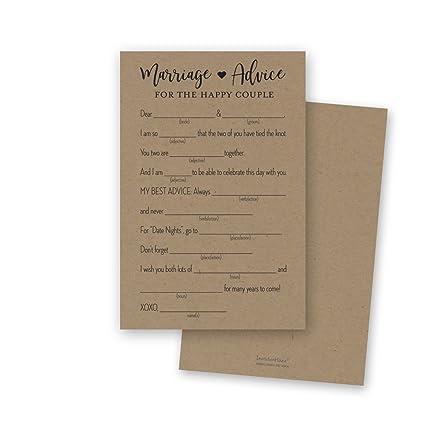 Amazon Com 48 Gold Heart Marriage Advice Libs Advice For Bride