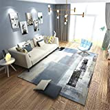 MIRUIKE Polypropylene Area Rugs Modern Abstract Carpet for Living Room Bedroom Hypoallergenic Non-Slip