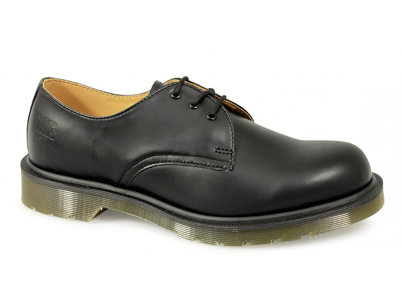 7cf0426ec1 Dr Martens Black 3 Eyelet Leather Gibson Non-Safety Work Shoe:  Amazon.co.uk: Shoes & Bags