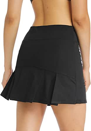 MS.ING Women's Active Athletic Skorts Lightweight Golf Tennis Sports Skirts with Inner Shorts Pockets