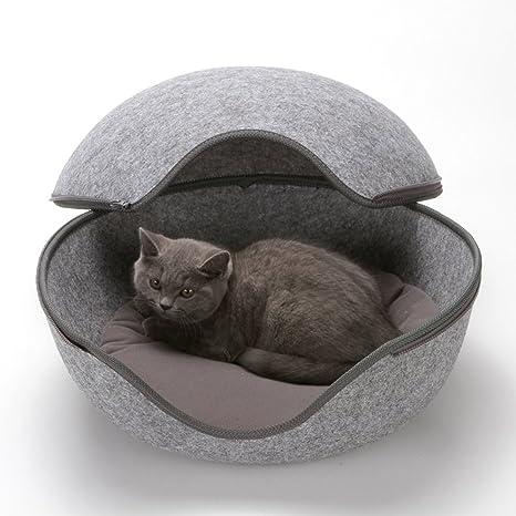 Felpa Paño Nido De Gato En Forma De Huevo, Cama De Gato Mascota ...