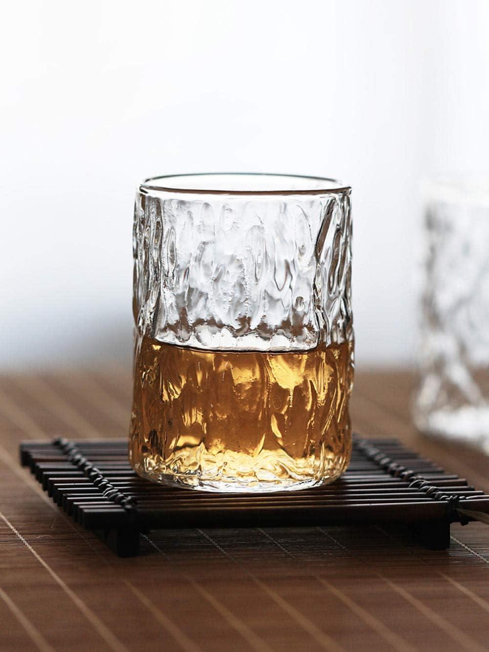 Vaso De Agua De Vidrio Con Textura Tallada, Vaso De Cerveza De Cristal Sin Plomo, Aislamiento Duradero, Adecuado Para Restaurantes Y Bares