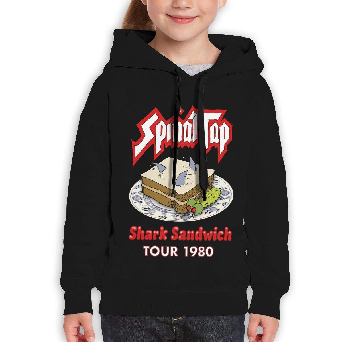 Guiping Spinal Tap Shark Sandwich Tour 1980 Teen Hooded Sweate Sweatshirt Black