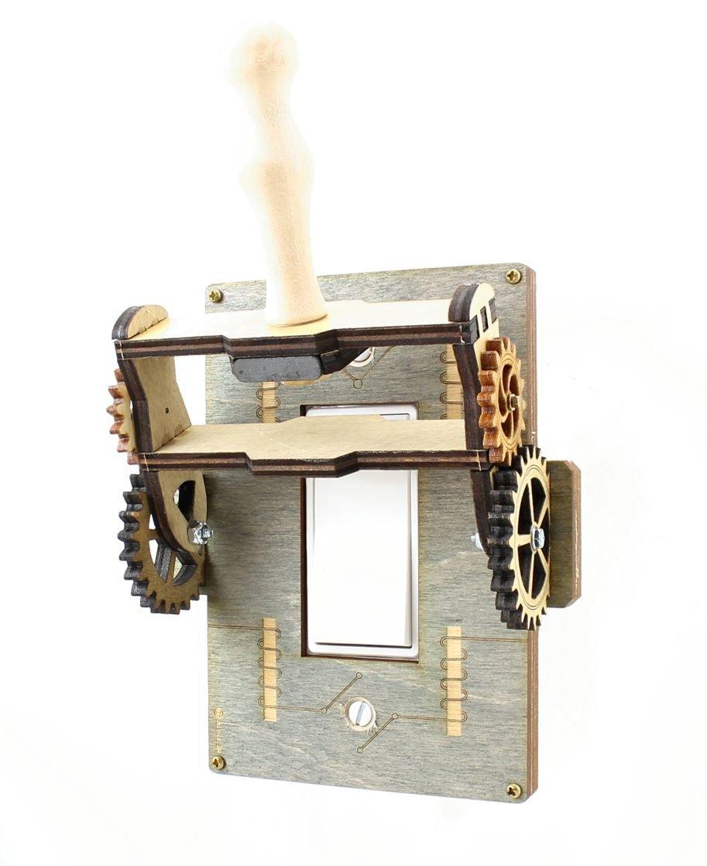 Green Tree Jewelry Steampunk Decora Rocker Throw Switch Grey Gray Wood Light Switch Plate Cover