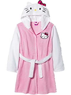 77c131afd Hello Kitty Women's Plush Hour Hooded Solid Robe at Amazon Women's ...