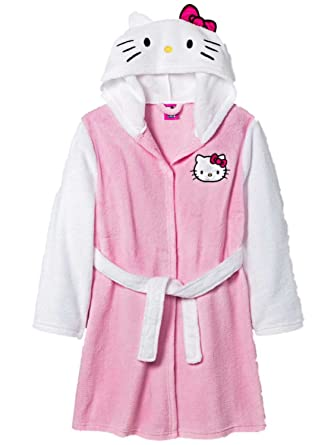 113ea5f56 Amazon.com: Hello Kitty Girls Plush Pink & White Bath Robe Cat ...