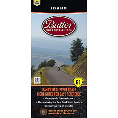 Butler Maps G1 State Maps (Idaho): Butler Motorcycle Maps: Automotive
