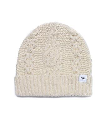 a617fef6452 Edwin Cream Cable Knit Beanie-ONE SIZE  Amazon.fr  Vêtements et ...