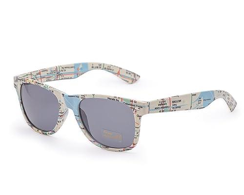 Gafas de sol unisex, estilo retro de los 80, cristales de espejo multicolor Underground