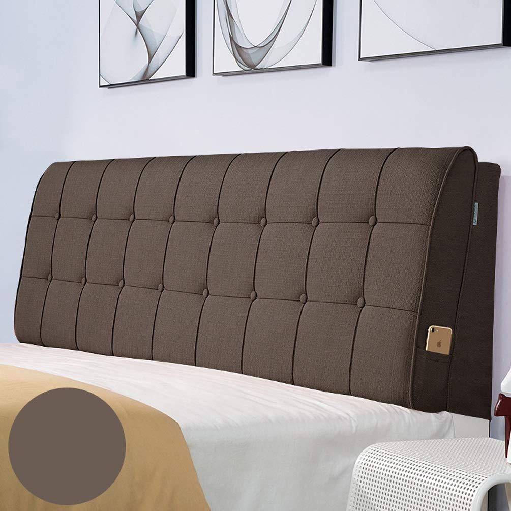 ベッド壁クッション布張りパッドウェッジ背もたれサポートソフトラージピローカバー取り外し可能、ベッド用ヘッドボードなし (Color : A, Size : With headboard-90cm) B07T81V96R A With headboard-90cm