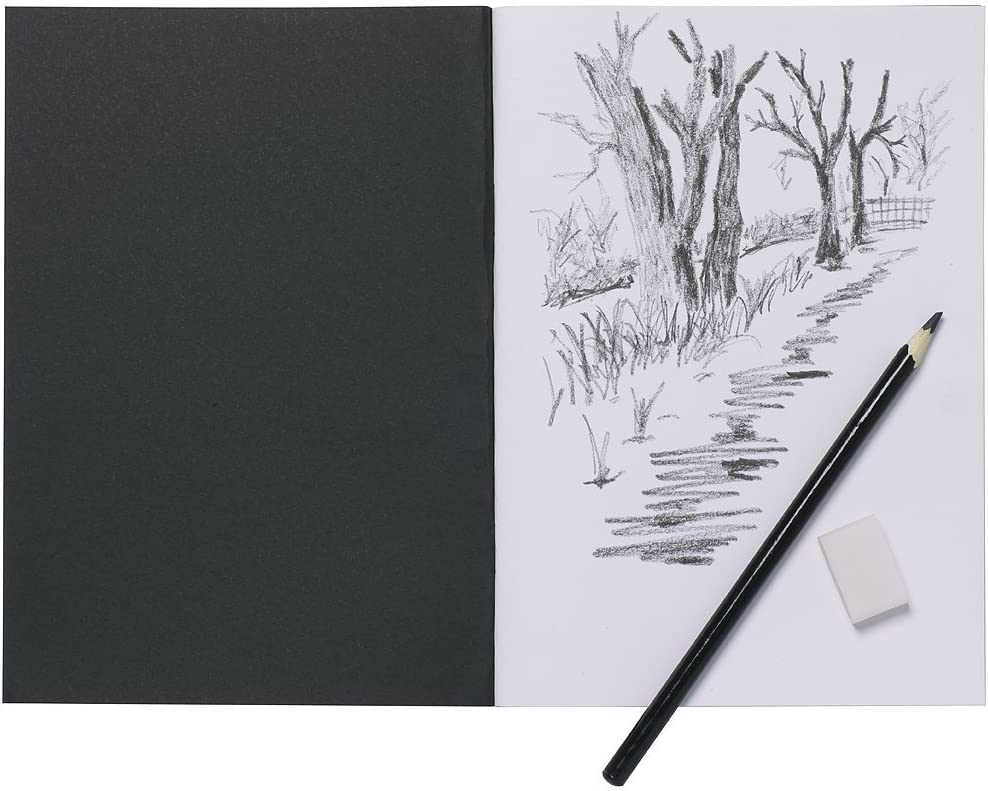 2019 A4 Sketch Pad 40 Pages White Artist Drawing Paper Book New