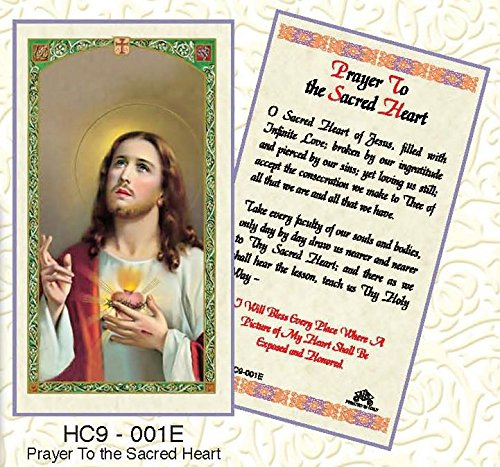 Prayer to the Sacred Heart of Jesus Paper Prayer Cards - Pack of 100 - HC9-001E-L (Sacred Card Heart Prayer Jesus Of)