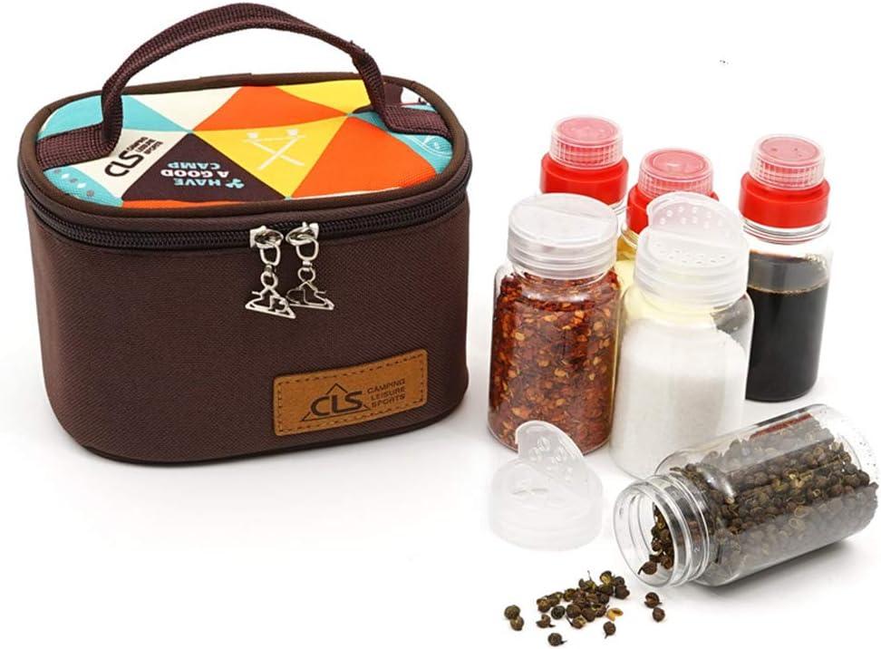 Gracelaza 3 Piezas Tarro para Especias 3 Piezas Botella de Almacenamiento de Vinagre Aceite - Botes de Condimento con Bolsa Portátil Ideal para Camping/Picnic/Viaje/Al Aire Libre/Cocina