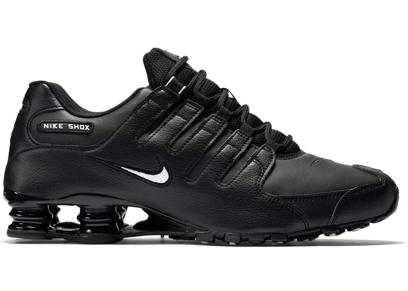 check out 6e298 bf350 Nike Men's Shox NZ Running Shoe Black/White/Black - 12 D(M) US