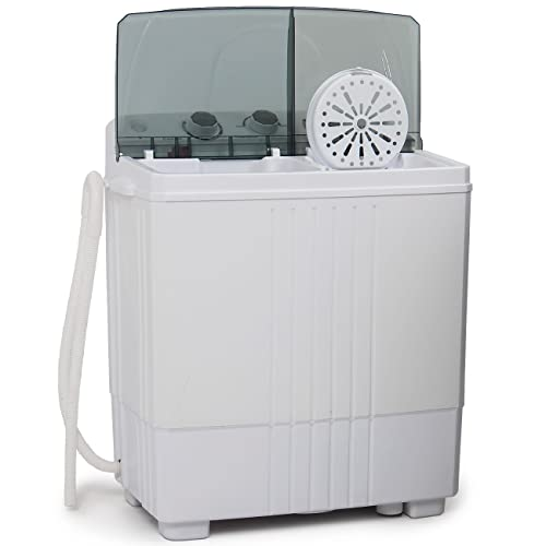 Della© Small Compact Portable Washing Machine 11lbs Capacity with Spin Dryer