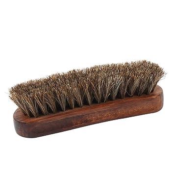 Vosarea Cepillo de Cabello de Crin de Mango de Madera para Limpieza y Cuidado Zapatos de Cuero Bota y Muebles de Piel: Amazon.es: Hogar