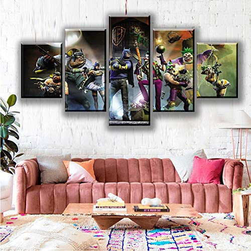 Callula & Partner Canvas Wall Art 5 Piece Hanging Print for Home Office, Living Room, Bedroom, Kitchen - Canvas Prints City on The River