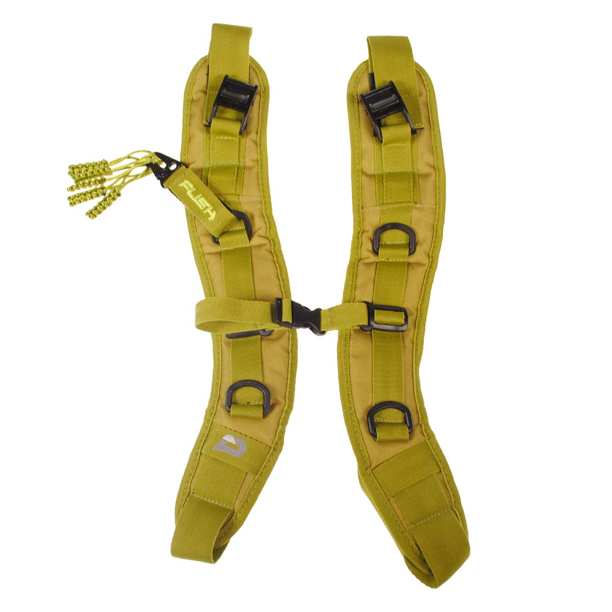 PUSH Paintball Backpack and Div1 Gear Bag Strap Kit (Lime Green)