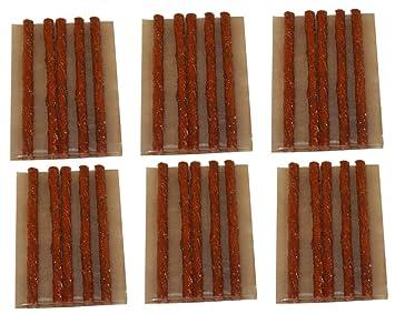 AERZETIX: Kit de 30 mechas 10cm para reparación neumáticos de coche y moto