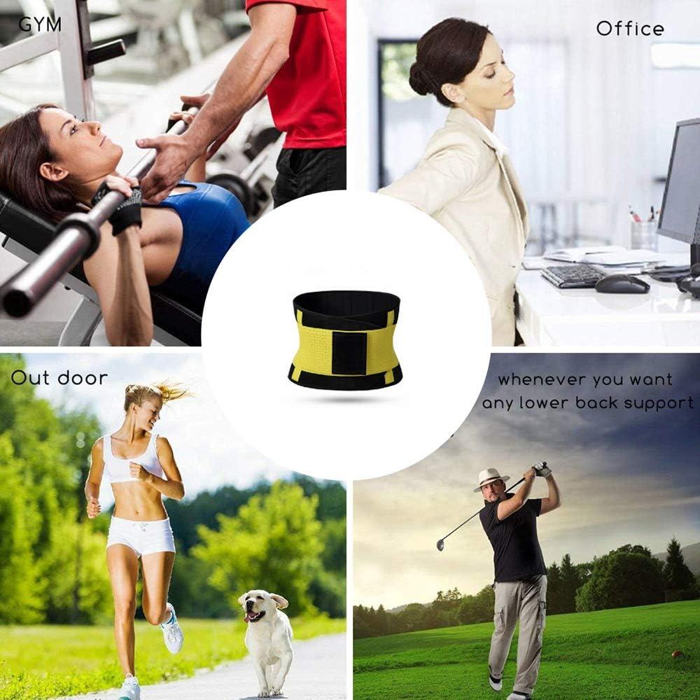 Adjustable C/ómodo Port/átil Faja Abdominal Deportiva para Fitness Proteger Los Lumbares Niocase Faja Reductora Adelgazante para Hombre//Mujer