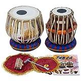 MAHARAJA Om ॐ Tabla Drum Set, 3KG Brass Bayan, Finest Dayan with Book, Hammer, Cushions & Cover (PDI-EC)