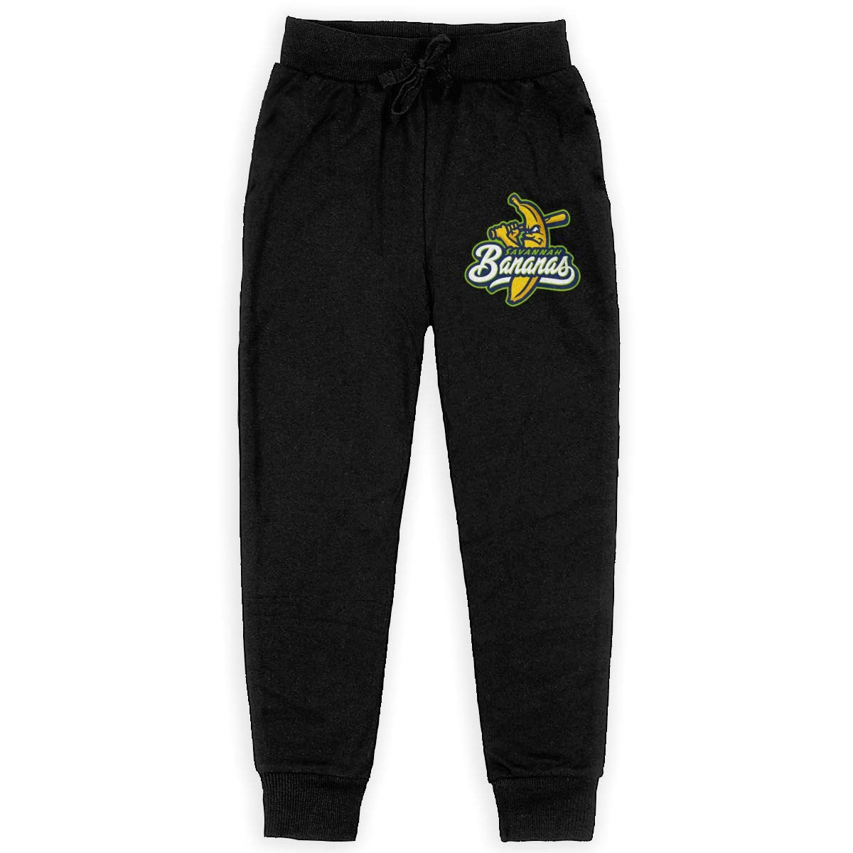 Dunpaiaa Savannah Bananas Boys Sweatpants,Joggers Sport Training Pants Trousers Black