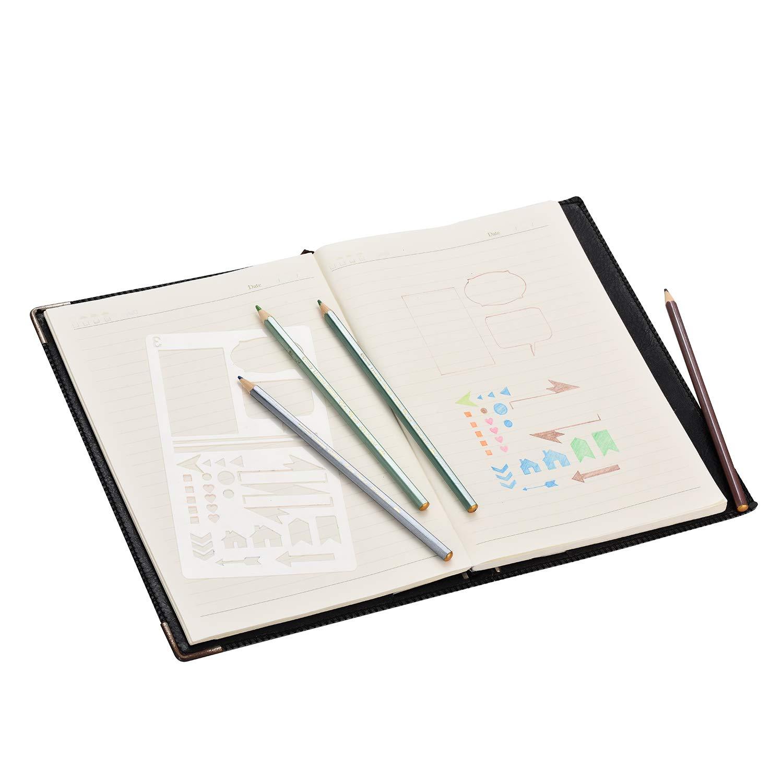 VABNEER Bullet Journal Plantilla Dibujo Plantillas de dibujo y de ...