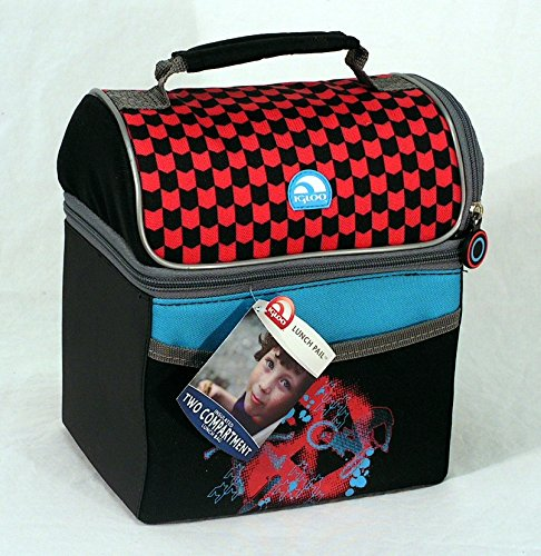 Igloo Insulated Lunch Bag, Two Compartments, (Checkered S...
