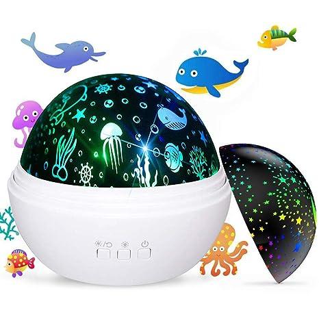 Amazon.com: Proyector de luz nocturna para bebés y niños ...