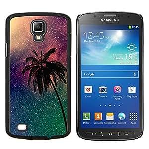 Estrellado cielo nocturno Estrellas Universo de Palm- Metal de aluminio y de plástico duro Caja del teléfono - Negro - Samsung i9295 Galaxy S4 Active / i537 (NOT S4)