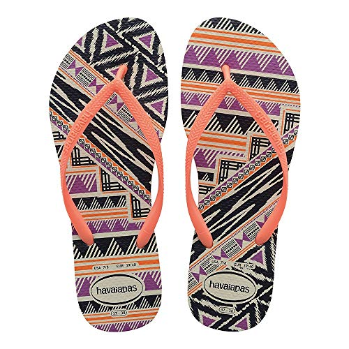 Tongs orange White Havaianas Tribal Cyber Femme Fluoro Slim Ewnq6pBX6R