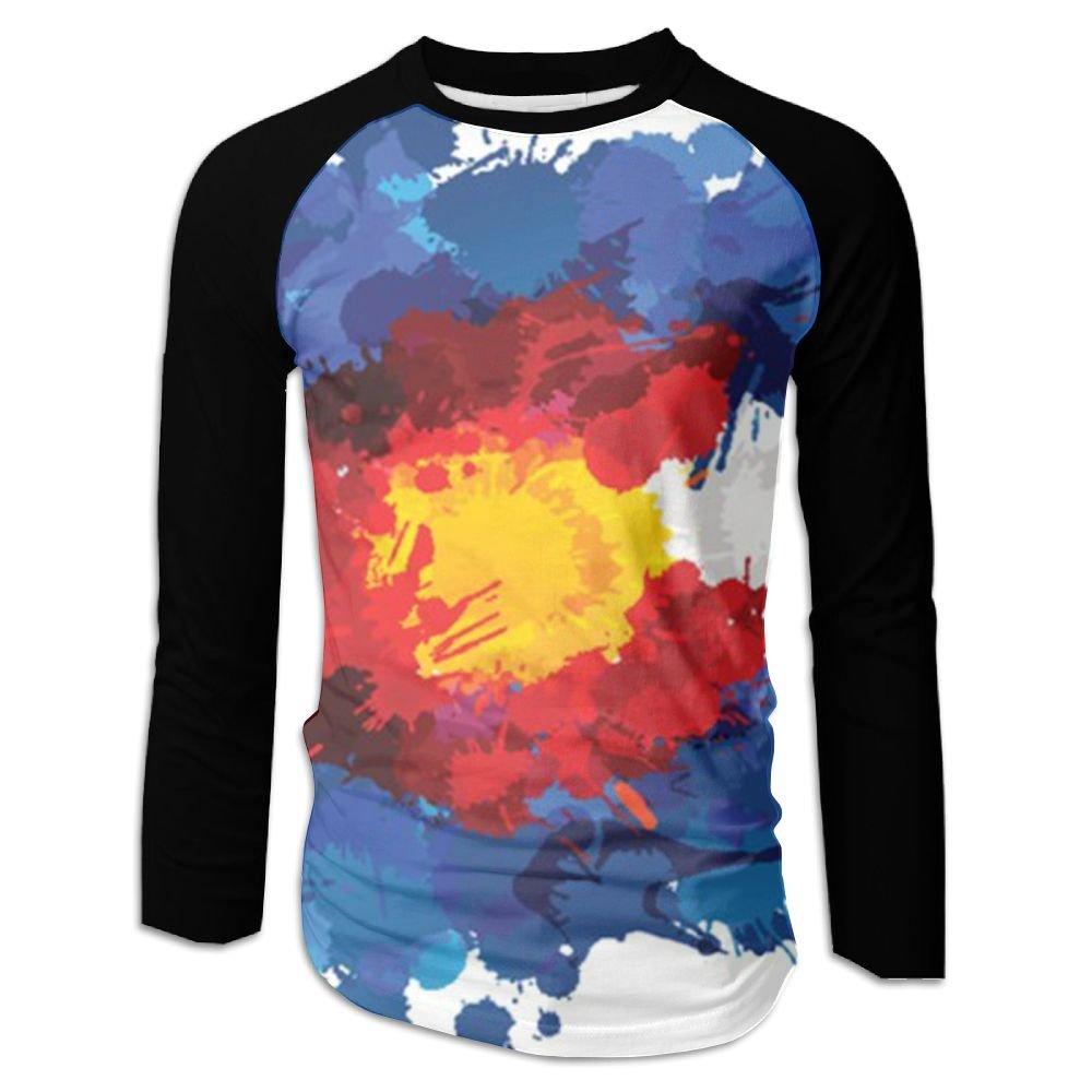 99dd57e487f Amazon.com: Pin Men's Gorgeous Colorado Flag Baseball Tshirts Sports ...
