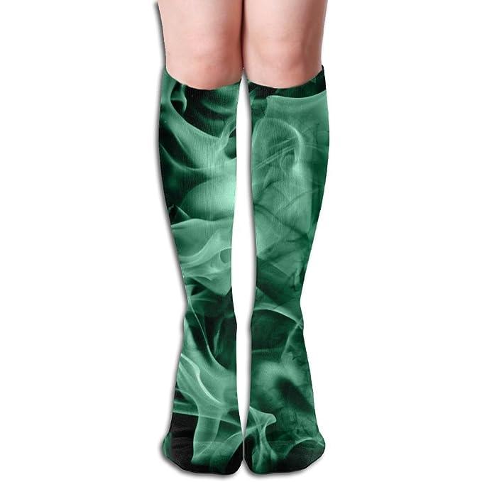 Amazon.com: Calcetines unisex con llama de fuego verde ...