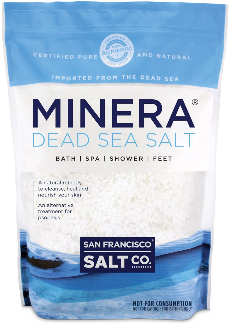 Minera Dead Sea Salt, 5lbs Coarse. 100% Pure and Certified. Natural Treatment For Psoriasis, Eczema, Acne And More
