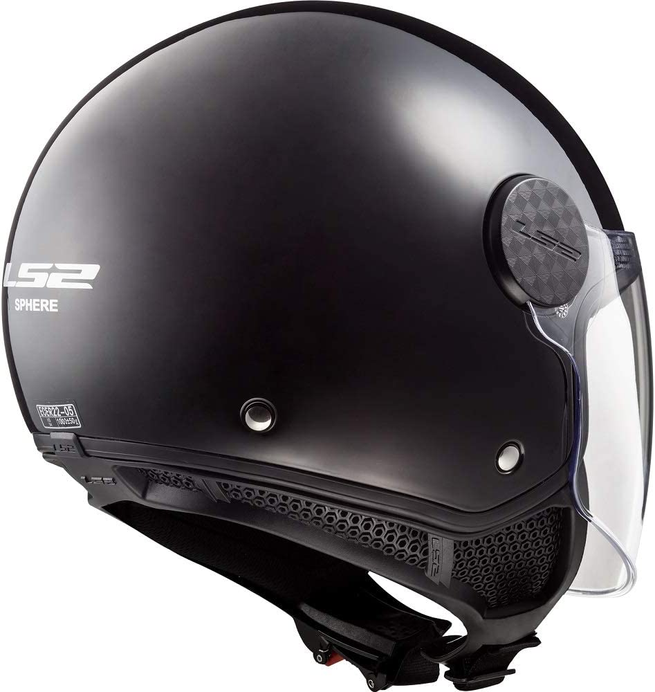LS2 OF558 SPHERE GLOSS BLACK OPEN FACE JET HELMET Motorbike Motorcycle Scooter Biker Sports Touring Urban Downtown ECE Approved Adult Crash Helmet