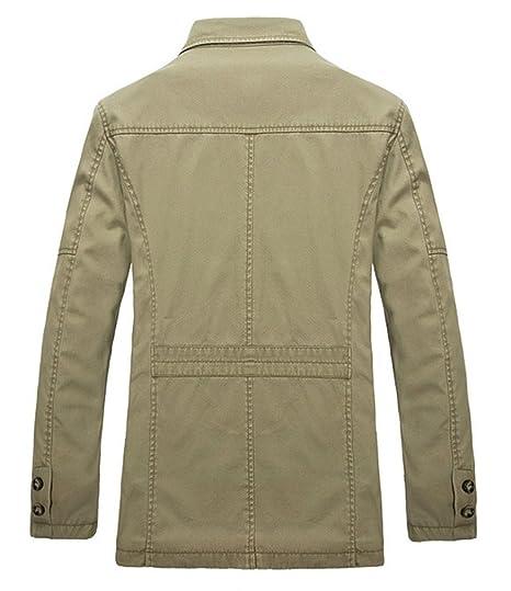 BININBOX® Herren langärmelige Jacke Windbreaker Baumwoll fashionable  Arbeitjacke Windjacke Mantel  Amazon.de  Bekleidung cef65ca049