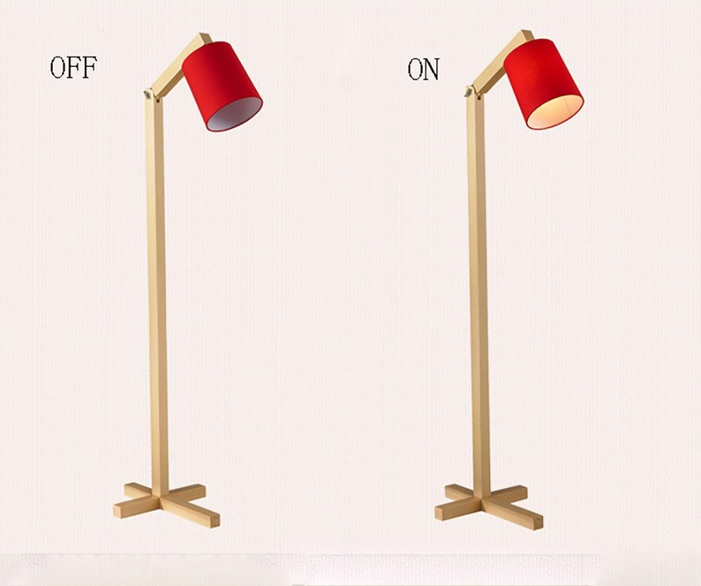 Amazon.com: QYJZI Floor Lamps European living room bedroom floor lamp/modern minimalist floor lamp/solid wood vertical floor lamp (Color : Red): Home & ...