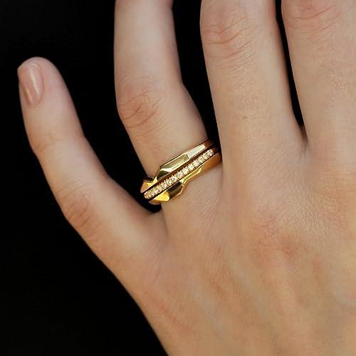 Amazon Com Black Diamonds Stacking Ring Set Of 3 Rings White Gold