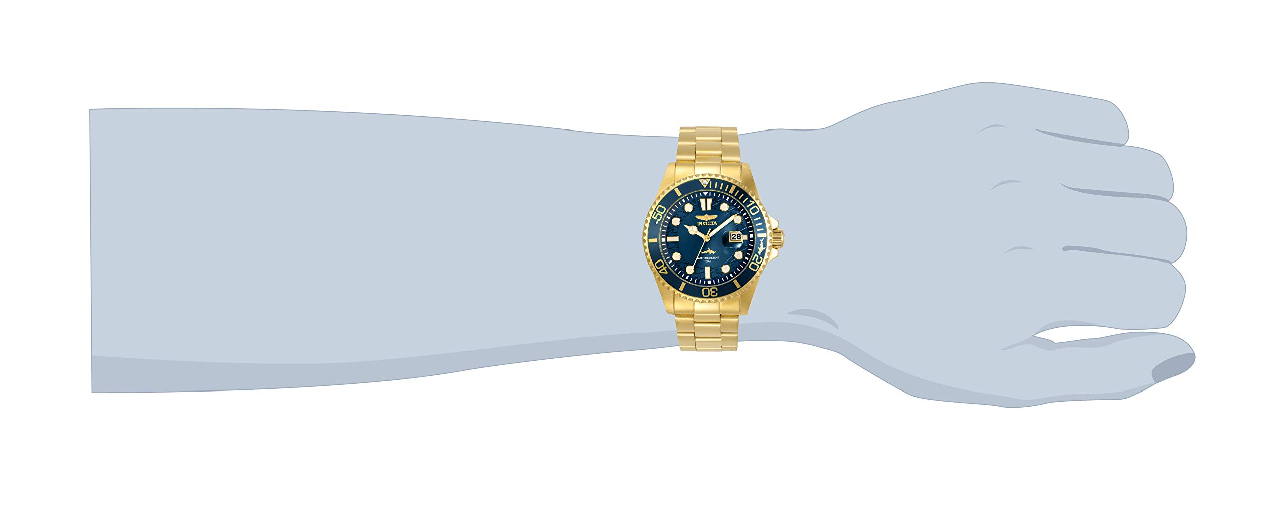 Invicta Men's Pro Diver Quartz Watch with Stainless Steel Strap, Gold, 22 (Model: 30024) by Invicta (Image #2)