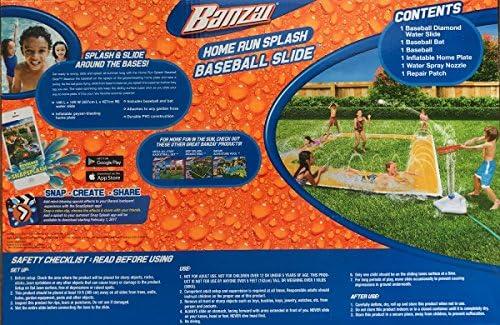 BANZAI 14ft x 14ft Homerun Splash Baseball Slide 5